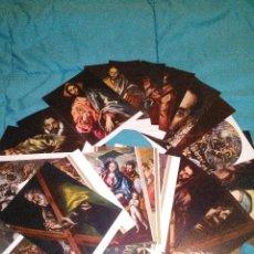 Postales: COLECCION 25 POSTALES DE OBRAS DEL GRECO EDIT. ESCUDO ORO AÑOS 70 SIN CIRCULAR. Lote 54115020
