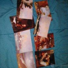 Postales: COLECCION 8 POSTALES MUSEO GALDEANO MADRID EDIT. ESCUDO ORO AÑOS'70 SIN CIRCULAR. Lote 54115198