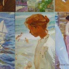 Postales: LOTE DE 9 POSTALES. JOAQUIN SOROLLA. MUSEO SOROLLA.. Lote 54547292