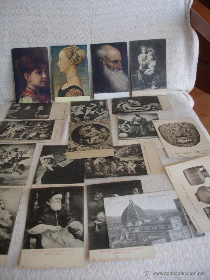 Postales: ESTUCHE EDITORIAL CON APROX. 95 POSTALES DE OBRAS EXPUESTAS EN EL MUSEO DE EL LOUVRE 1910 ca - Foto 3 - 54693494