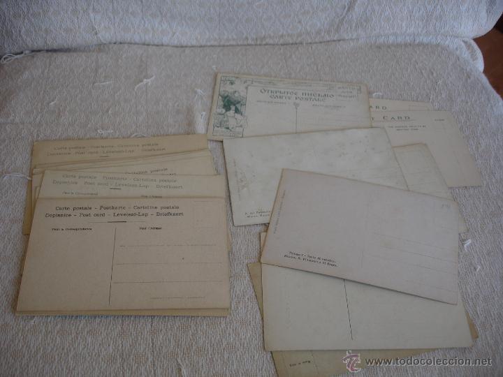 Postales: ESTUCHE EDITORIAL CON APROX. 95 POSTALES DE OBRAS EXPUESTAS EN EL MUSEO DE EL LOUVRE 1910 ca - Foto 7 - 54693494