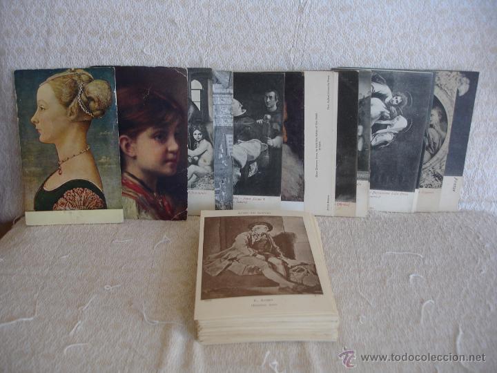 Postales: ESTUCHE EDITORIAL CON APROX. 95 POSTALES DE OBRAS EXPUESTAS EN EL MUSEO DE EL LOUVRE 1910 ca - Foto 8 - 54693494