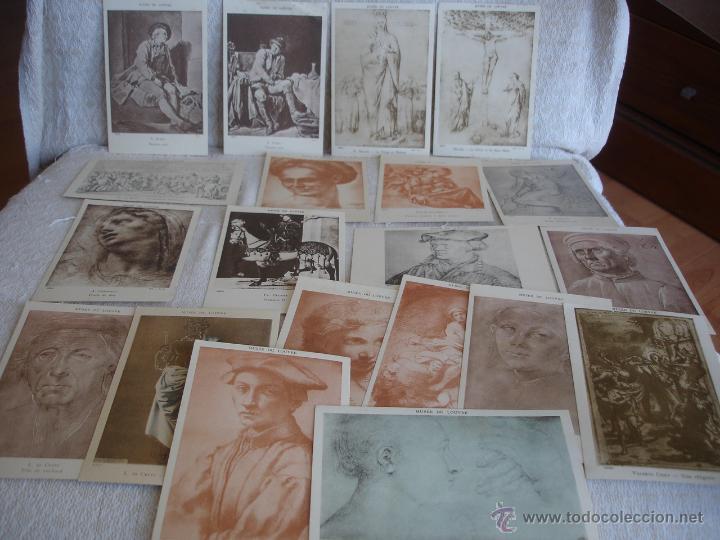Postales: ESTUCHE EDITORIAL CON APROX. 95 POSTALES DE OBRAS EXPUESTAS EN EL MUSEO DE EL LOUVRE 1910 ca - Foto 9 - 54693494