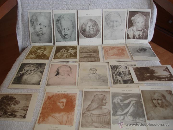 Postales: ESTUCHE EDITORIAL CON APROX. 95 POSTALES DE OBRAS EXPUESTAS EN EL MUSEO DE EL LOUVRE 1910 ca - Foto 10 - 54693494