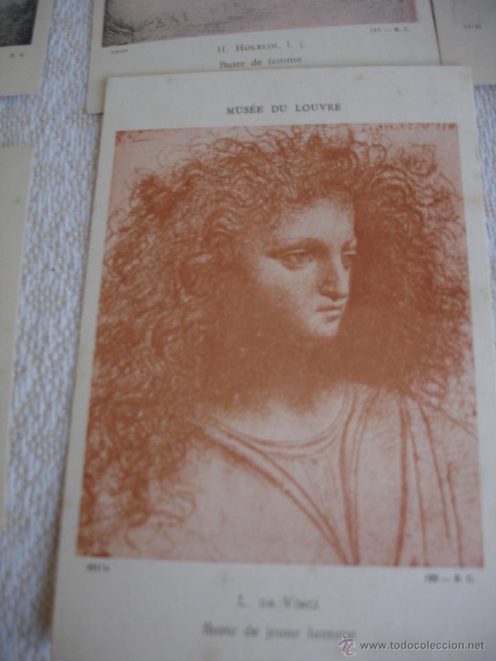 Postales: ESTUCHE EDITORIAL CON APROX. 95 POSTALES DE OBRAS EXPUESTAS EN EL MUSEO DE EL LOUVRE 1910 ca - Foto 11 - 54693494
