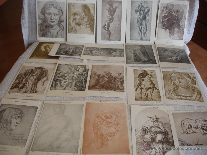 Postales: ESTUCHE EDITORIAL CON APROX. 95 POSTALES DE OBRAS EXPUESTAS EN EL MUSEO DE EL LOUVRE 1910 ca - Foto 13 - 54693494