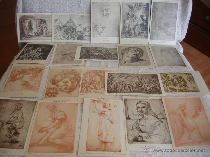 Postales: ESTUCHE EDITORIAL CON APROX. 95 POSTALES DE OBRAS EXPUESTAS EN EL MUSEO DE EL LOUVRE 1910 ca - Foto 16 - 54693494