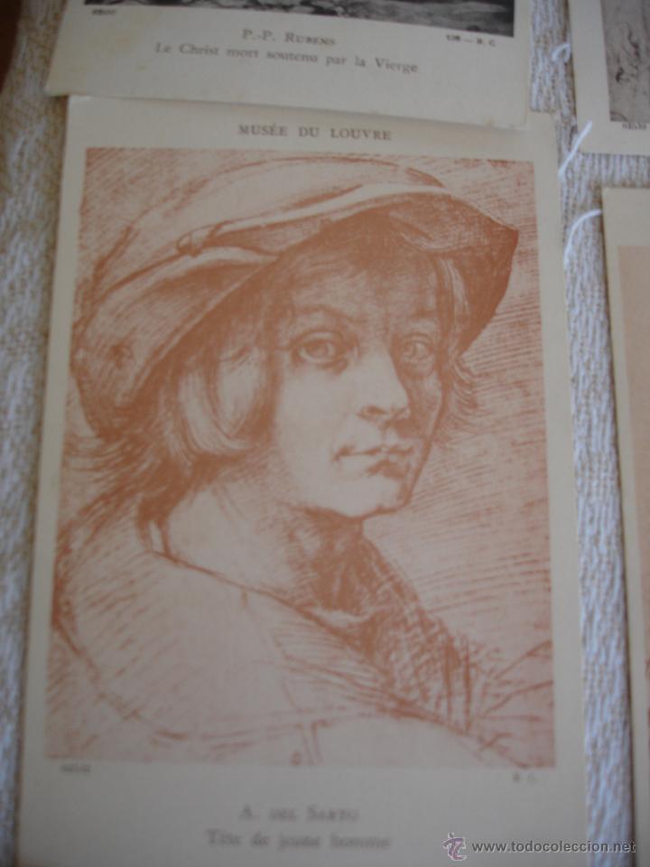 Postales: ESTUCHE EDITORIAL CON APROX. 95 POSTALES DE OBRAS EXPUESTAS EN EL MUSEO DE EL LOUVRE 1910 ca - Foto 18 - 54693494
