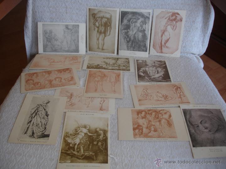 Postales: ESTUCHE EDITORIAL CON APROX. 95 POSTALES DE OBRAS EXPUESTAS EN EL MUSEO DE EL LOUVRE 1910 ca - Foto 19 - 54693494
