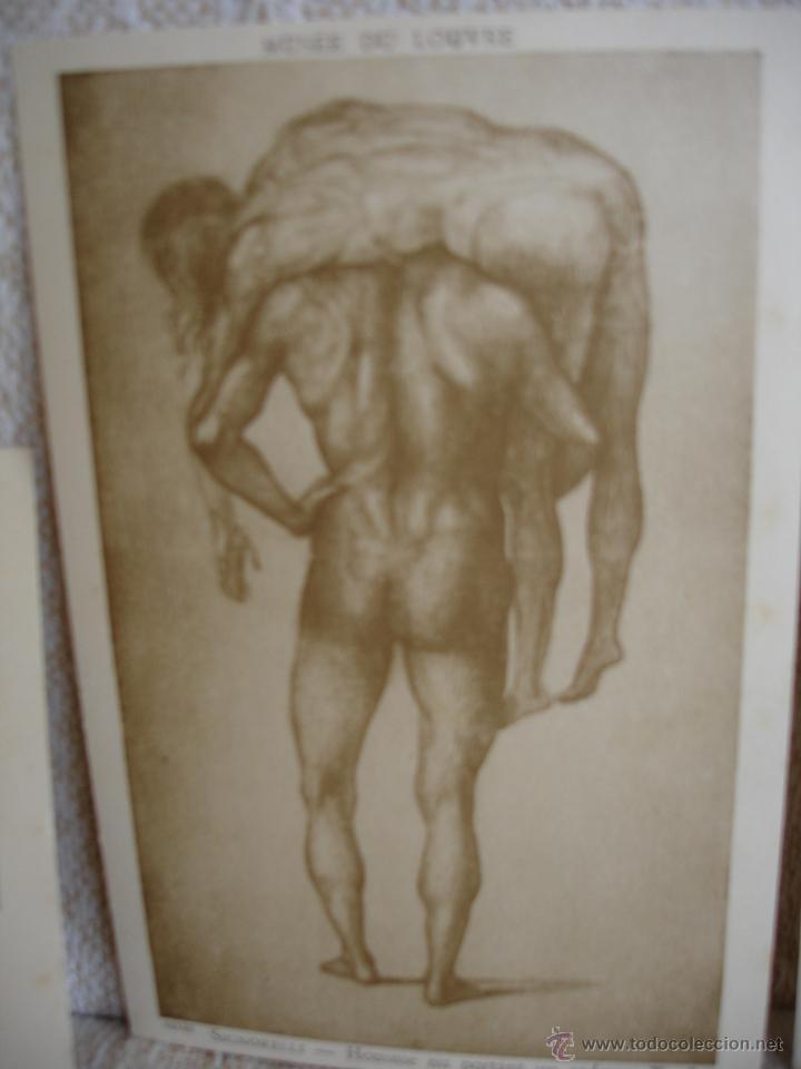 Postales: ESTUCHE EDITORIAL CON APROX. 95 POSTALES DE OBRAS EXPUESTAS EN EL MUSEO DE EL LOUVRE 1910 ca - Foto 20 - 54693494