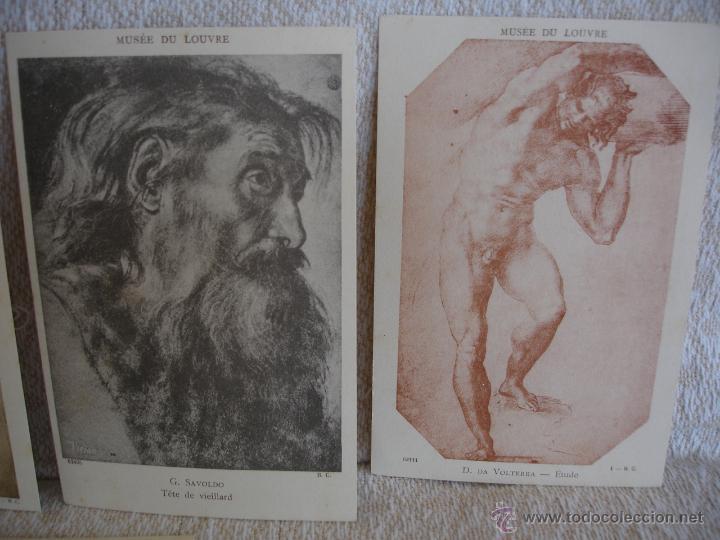 Postales: ESTUCHE EDITORIAL CON APROX. 95 POSTALES DE OBRAS EXPUESTAS EN EL MUSEO DE EL LOUVRE 1910 ca - Foto 21 - 54693494