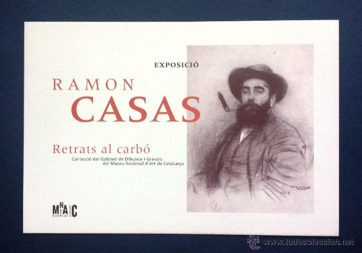 FLYER PUBLICIDAD TARJETA POSTAL PUBLICITARIA EXPOSICIÓN RAMÓN CASAS MNAC 1996 (Postales - Postales Temáticas - Arte)