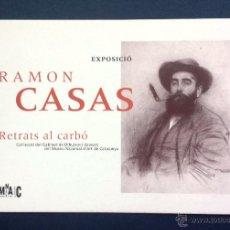 Postales: FLYER PUBLICIDAD TARJETA POSTAL PUBLICITARIA EXPOSICIÓN RAMÓN CASAS MNAC 1996. Lote 55013300