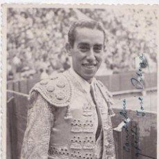 Postales: P- 4708. POSTAL FOTOGRAFICA DE JOSE ORTEGA. AÑOS 40. DEDICADA POR EL TORERO.. Lote 55118836