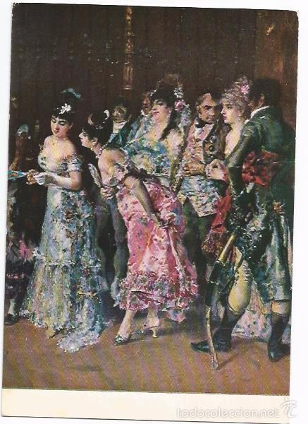 [POSTAL] BARCELONA. MUSEO DE ARTE MODERNO. ÓLEO. LA VICARÍA. MARIANO FORTUNY (DETALLE) (Postales - Postales Temáticas - Arte)