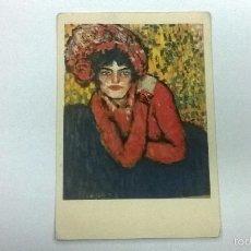 Postales: PICASSO-L ATTENTE (MUSEO ARTE BARCELONA). Lote 56175373