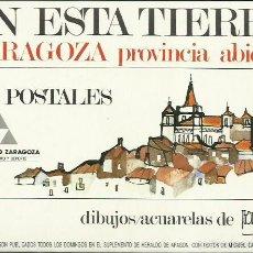 Postales: TEODORO PÉREZ BORDETAS : EN ESTA TIERRA. (ESTUCHE CON 20 POSTALES. DPZ, 1992). Lote 56293539