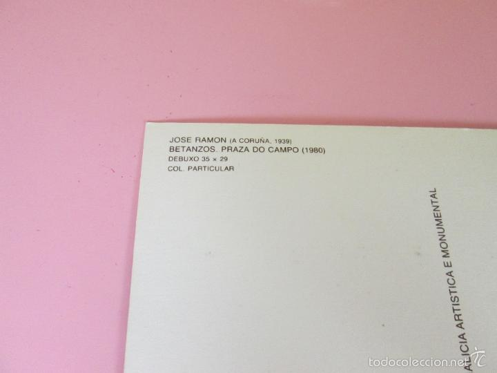 Postales: ANTIGUA POSTAL-CUADRO DE JOSÉ RAMÓN-BETANZOS-PRAZA DO CAMPO 1980-IMPOLUTA-1986-Nº12-VER FOTOS. - Foto 5 - 56525987