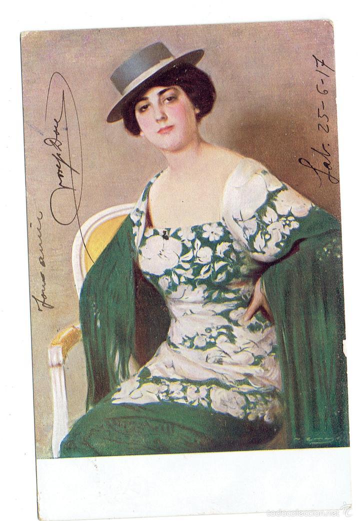 PS5756 RAMÓN CASAS 'CORDOBESA'. THOMAS. BARCELONA. CIRCULADA EN 1917 (Postales - Postales Temáticas - Arte)