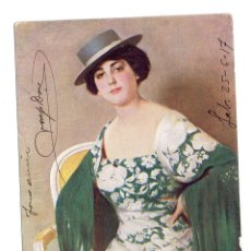 Postales: PS5756 RAMÓN CASAS 'CORDOBESA'. THOMAS. BARCELONA. CIRCULADA EN 1917. Lote 57080069