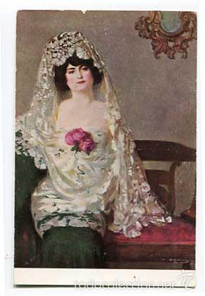 POSTAL DEL ILUSTRADOR RAMON CASAS LA MAJA. EDICIONES THOMAS TRICOMÍA 153. PROP. D. J. VENDRELL (Postales - Postales Temáticas - Arte)