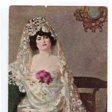 Postales: POSTAL DEL ILUSTRADOR RAMON CASAS LA MAJA. EDICIONES THOMAS TRICOMÍA 153. PROP. D. J. VENDRELL. Lote 58035931