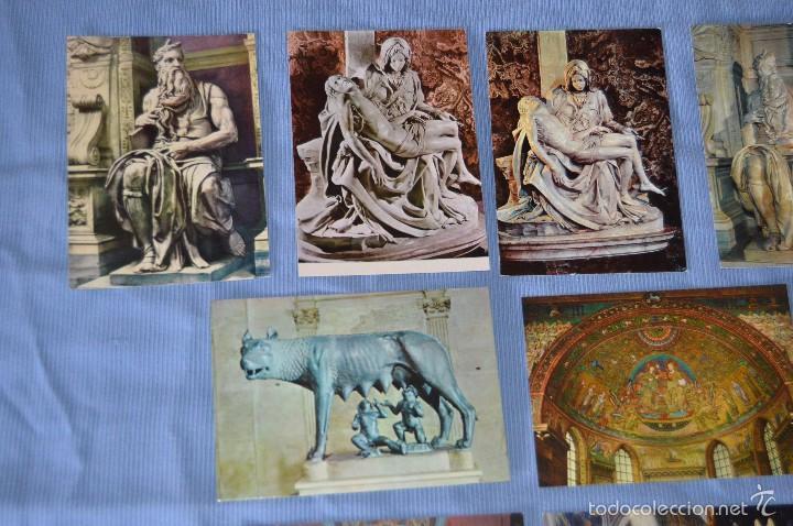 Postales: Lote 12 postales escultura y pintura - Roma - Buen estado - Sin circular - arte sacro - Foto 2 - 58377228