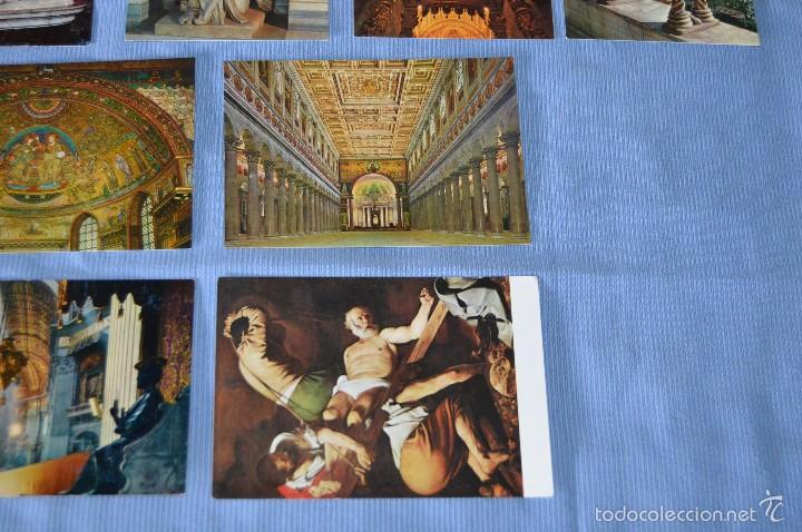 Postales: Lote 12 postales escultura y pintura - Roma - Buen estado - Sin circular - arte sacro - Foto 5 - 58377228