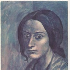Postales: [POSTAL] CABEZA DE MUJER (1903) MUSEO DE ARTE MODERNO (BCN) PICASSO (SIN CIRCULAR). Lote 58456560