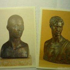 Postales: LOTE POSTALES OBRAS ESCULTOR JULIO ANTONIO -MORA D´EBRE -TARRAGONA. Lote 177627127