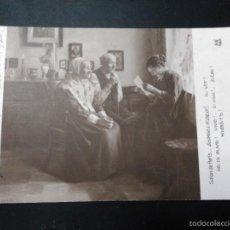 Postales: POSTAL DE LA PINTURA DE GEORGES H DILLY. SALON DE PARIS. CIRCULADA 1927. DE BARNA A PIEROLA. Lote 59728891