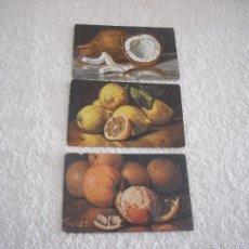 Postales: 3 POSTALES DE MARCELLO GIACHINO . LIMONI, ARANCIE Y COCCO. Lote 59935143