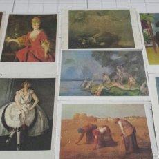 Postales: POSTALES DE PINTURAS FAMOSAS AÑO 80. Lote 61170754