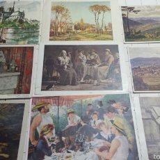 Postales: POSTALES DE CUADROS FAMOSOS AÑOS 70. Lote 61176765