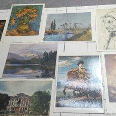 Postales: POSTALES DE CUADROS FAMOSOS AÑOS 80. Lote 61177625