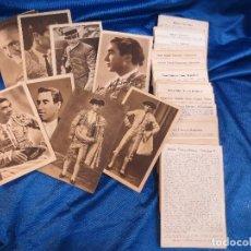 Postales: IMPORTANTE COLECCIÓN DE 106 POSTALES DE TOREROS CON SU BIOGRAFÍA E HISTORIA DE 1945. Lote 62084536
