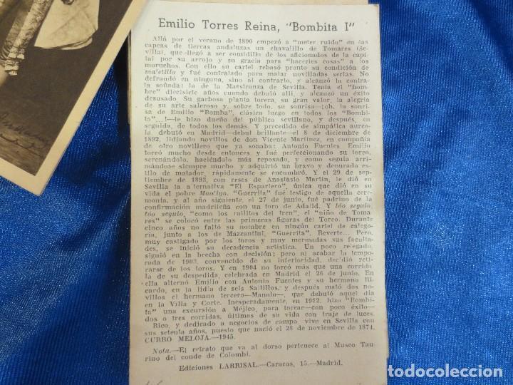 Postales: IMPORTANTE COLECCIÓN DE 106 POSTALES DE TOREROS CON SU BIOGRAFÍA E HISTORIA DE 1945 - Foto 2 - 62084536
