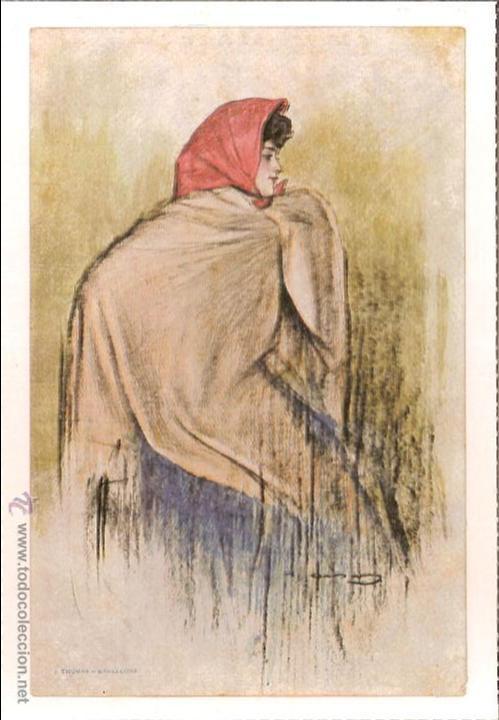 RAMON CASAS (1866 - 1932) - ED. J.THOMAS - E. ANTALBE - REPRODUCCIÓN (Postales - Postales Temáticas - Arte)