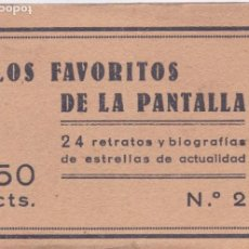 Postales: P-6185. LOS FAVORITOS DE LA PANTALLA Nº2 24 RETARTOS Y BIOGRAFIAS DE ESTRELLAS DE LA ACTUALIDAD.. Lote 62373692