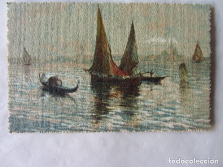 POSTAL ACUARELA VENECIA. 1929. TROQUELADA (Postales - Postales Temáticas - Arte)