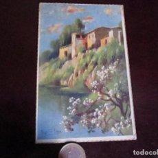 Postales: POSTAL ANTIGUA DE PINTURA, ARTE, PAISAGE. Lote 64460343