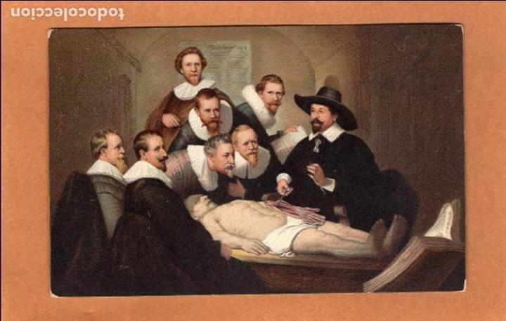 postal - pintura - lección de anatomía - anatom - Comprar Postales ...