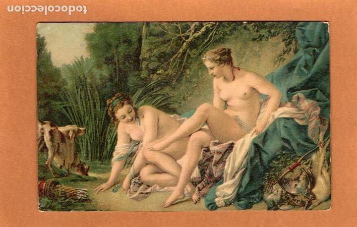 Boucher El Bano De Diana.Pintura Diana Despues Del Bano Francois Boucher Anos 20 Art Rococo Desnudo Femenino
