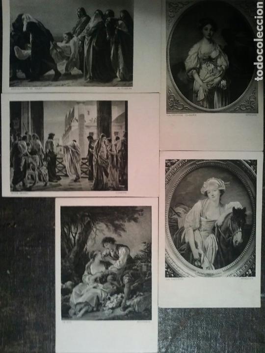 CINCO POSTALES DE DOS CUADROS DE IMPORTANTES ARTISTAS SIN CIRCULAR (Postales - Postales Temáticas - Arte)