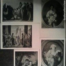 Postales: CINCO POSTALES DE DOS CUADROS DE IMPORTANTES ARTISTAS SIN CIRCULAR. Lote 66282197