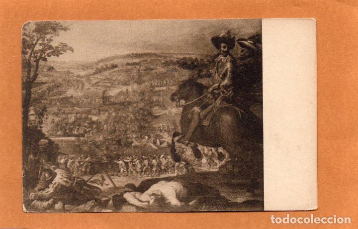 PINTURA - CUADROS CÉLEBRES - HISTORIA DE ESPAÑA - BATALLA DE FLEURUS - CARDUCCI - CARDUCHO-AÑOS 30 (Postales - Postales Temáticas - Arte)