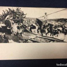 Postales: HISPANIC SOCIETY OF AMERICA SOROLLA ANDALUCIA EL ENCIERRO PROVINCES OF SPAIN POSTAL. Lote 67877053