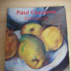 Postales: 30 POSTALES OBRAS DE PAUL CÉZANNE. . Lote 69199569