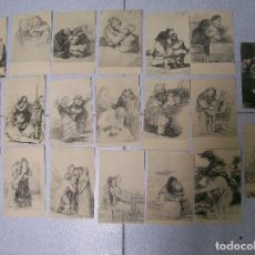 Postales: LOTE 20 POSTALES OBRAS DE GOYA EN EL MUSEO DEL PRADO. . Lote 69281297