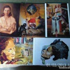 Postales: LOTE 9 POSTALES ANTIGUAS OBRAS DE ARTE DALI. Lote 70381393